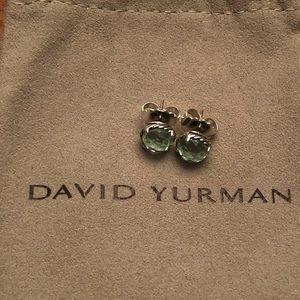 David Yurman Chatelaine Prasiolite Stud Earrings